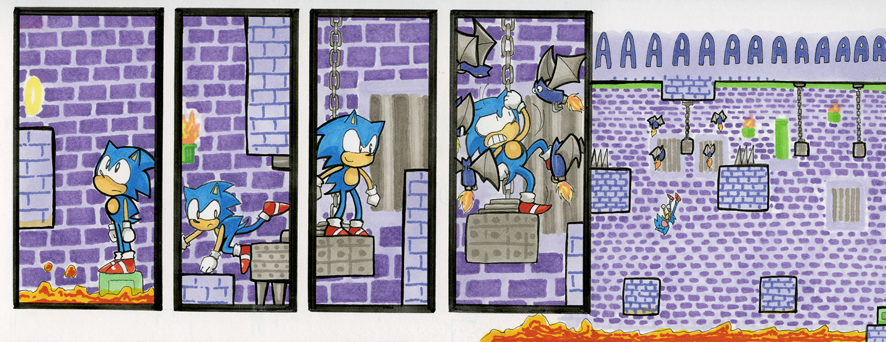 Sonic the Hedgehog 1: Marble Zone, Act 2