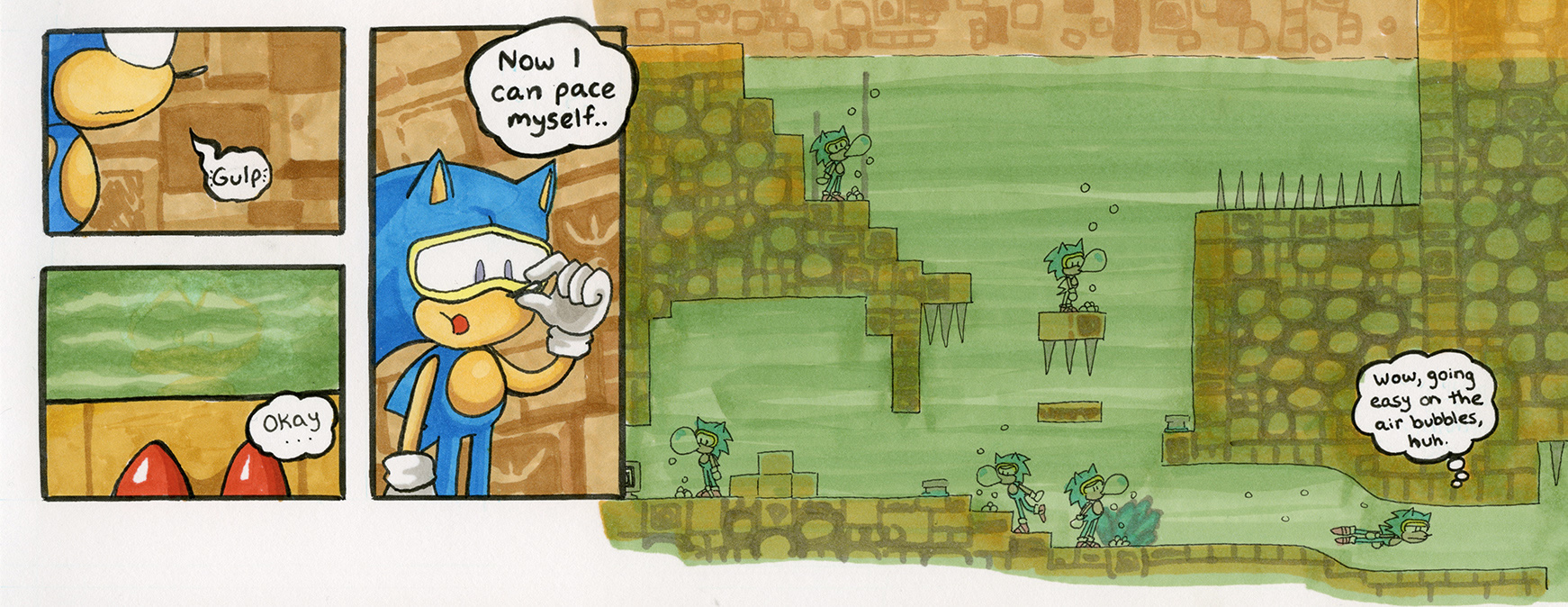 Sonic the Hedgehog 1: Labyrinth Zone, Act 1