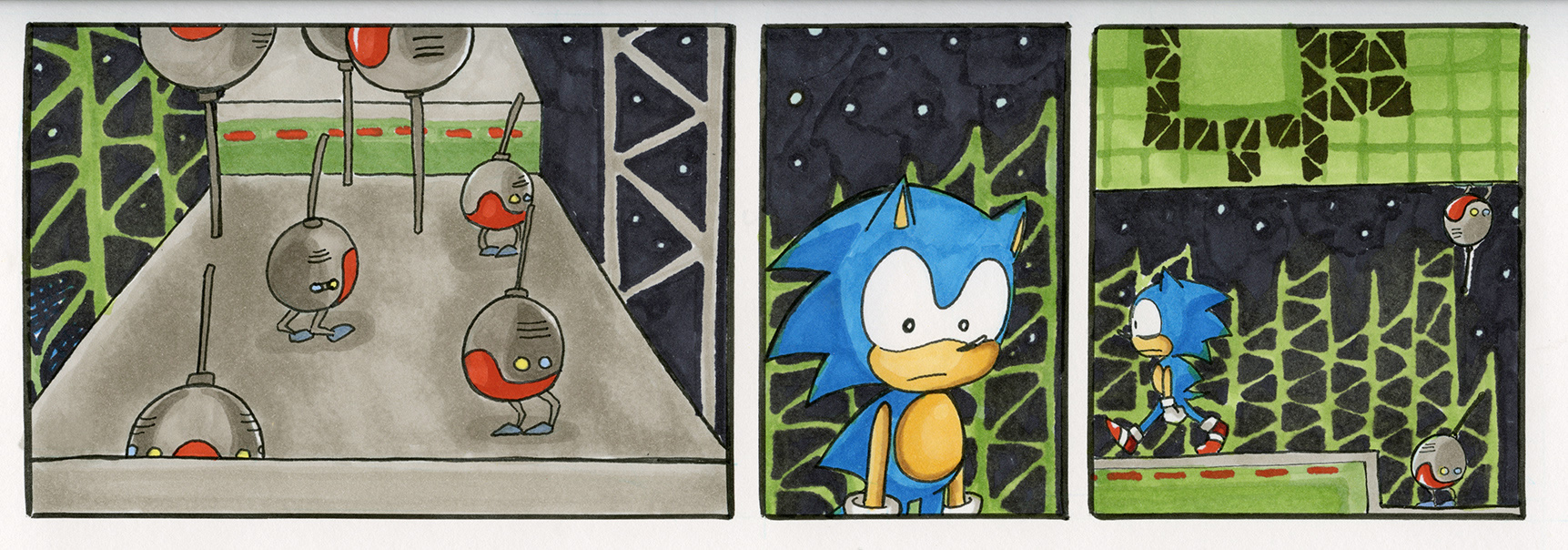 Sonic the Hedgehog 1: Star Light Zone, Act 2