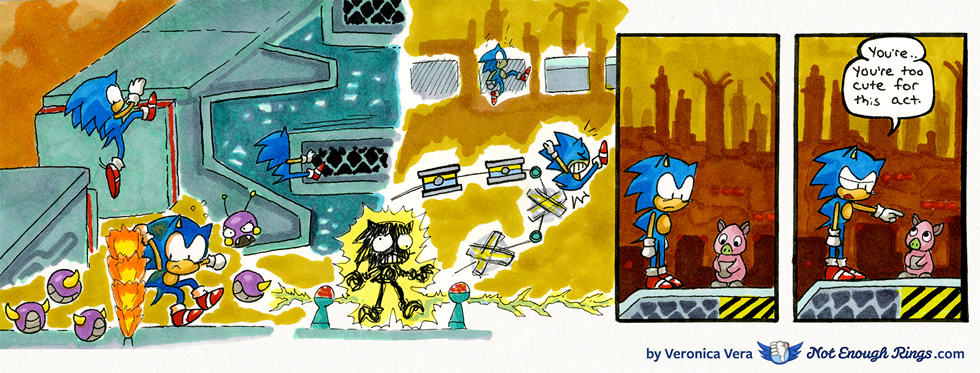 Sonic the Hedgehog 1: Scrap Brain Zone, Act 1